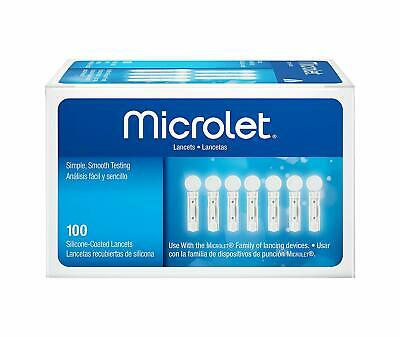 Microlet Sterile Lancets 100 Special Silicon Safe Coating Bayer Genuine and NEW