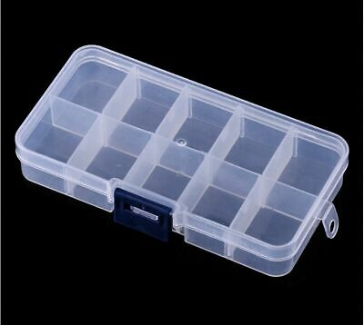 1pcs Plastic Clear Lure Tool Case 10 Compartments [SN-53]