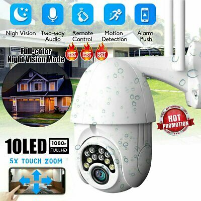Wireless 1080P WIFI IP Camera WHITE PTZ 2MP Outdoor CCTV HD Home Security IR Cam