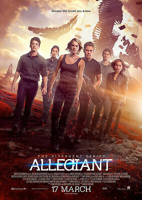 CHOOSE YOUR SIZE Divergent Allegiant Poster Tris Shailene Woodley HOT FREE P+P