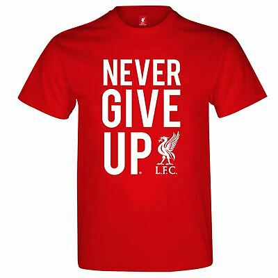 Source Lab Liverpool Never Give Up T Shirt Mens Gents Crew Neck Tee Top Short