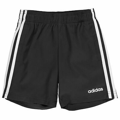 adidas Youngster Boys 3 Stripe Woven Shorts Pants Trousers Bottoms Mesh Regular