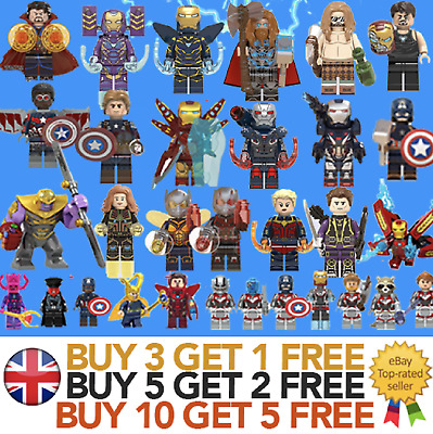 Avengers Minifigures Super Hero Mini figures ENDGAME Marvel Superhero fits lego