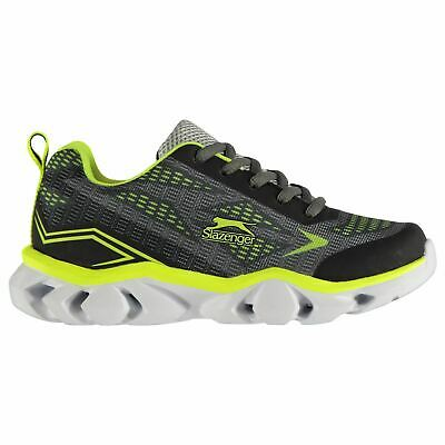 Slazenger Light Up Childrens Sneakers Runners Laces Fastened Padded Ankle Collar