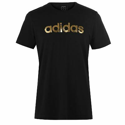 adidas Mens Gents Linear Foil T Shirt Crew Neck Tee Top Short Sleeve Cotton