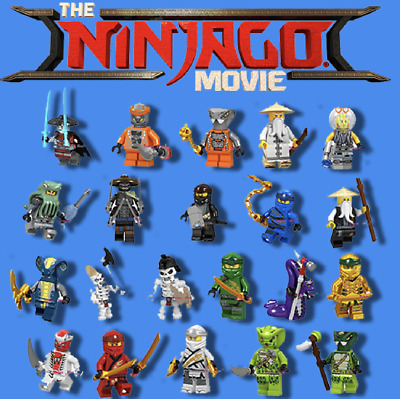 Ninjago Minifigures / Golden Lloyd, Zane, Wu, Kai, Jay, Cole Mini Fig Fits Lego