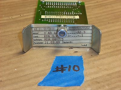 Indramat As31/007-000 Power Supply Servo Controller Module Software #10