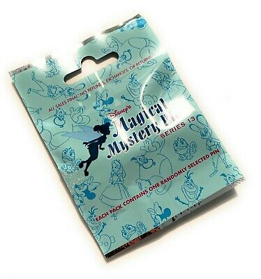 Disney Magical Mystery Series 13 Pins Notebooks Light Blue Bag Pouch Pack NEW