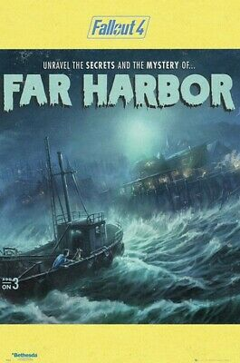 Hit/ Fallout 4 * Far Harbour * 61x91,5cm * AFFICHE / Poster - Envoi en tube