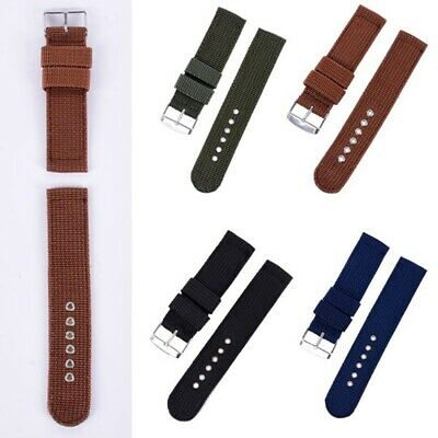 Hot Watch Strap Band Military Divers Army Nylon Canvas 18 mm 20mm 22mm