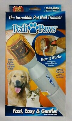 Pedi Paws Nail Trimmer Grinder Grooming Tool Care Clipper For Pet Dog Cat