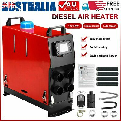 5KW 12V Diesel Air Heater All In One Thermostat Remote Caravan Motorhome Trailer
