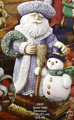 Ceramic Bisque Santa with Snowman Gare Mold 2809 U-Paint Ready To Paint