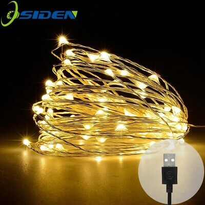 USB 2M5M10M LED String light Fairy Christmas Copper Wire Wedding Garland Lights
