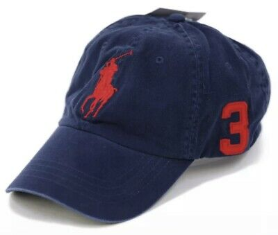 a89b3875d7d20f Polo Ralph Lauren Baseball Cap Hat Big Pony Adjustable Strap One Size Navy  Red 3