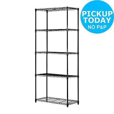 5 Tier Heavy Duty Steel Garage Shelving Storage Unit.