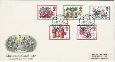 GB Stamps First Day Cover Christmas Xmas Carols,church,singing SHS Ivy Leaf 1982