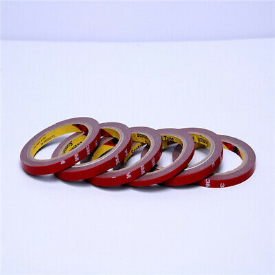 3M Red Super Strong Permanent Double Sided Self Adhesive Foam Car Trim Body Tape