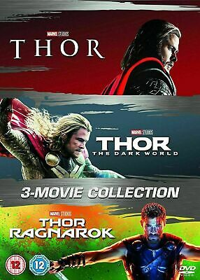 Thor DVD Box Set Complete Collection Trilogy Marvel Thor 1-3 All 3 movies