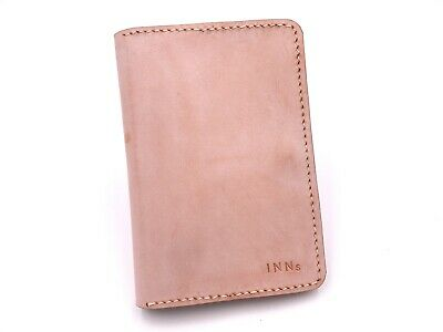 Leather Passport Holder Cover Ticket Case Travel Wallet ID Card Holder With Tool