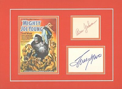 Mighty Joe Young-Signed Terry Moore & Ben Johnson-Picture Display-Aftal/Uacc Rd