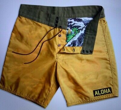 9906c7f71b BIRDWELL BEACH BRITCHES 311 LIMITED-EDITION ALOHA BOARD SHORTS - GOLD -  Men's 36