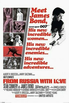 Hit/ James Bond 007 * From Russia With Love * 61x91,5cm * AFFICHE / Poster - Env