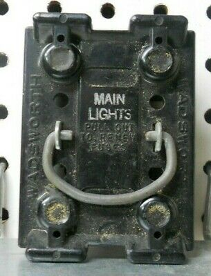wadsworth 60 amp main lights fuse panel pull out with 60 amp fuses, fuse  holder