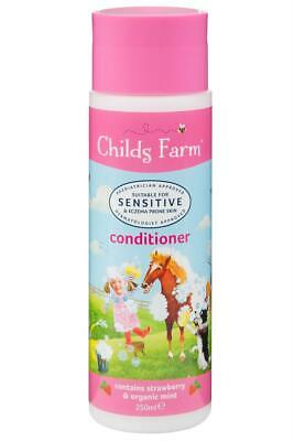 Childs Farm Strawberry and Organic Mint Conditioner 250ml For Sensitive Skin