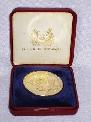 un004 1960-1985 Singapore 25 Years of Public Housing 5 Dollars Coin