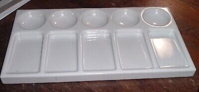 RARE Vintage or Antique Ceramic PORCELAIN Artist Paint Mixing Tray