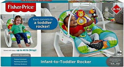 New Infant-To-Toddler Rocker, Green Jungle
