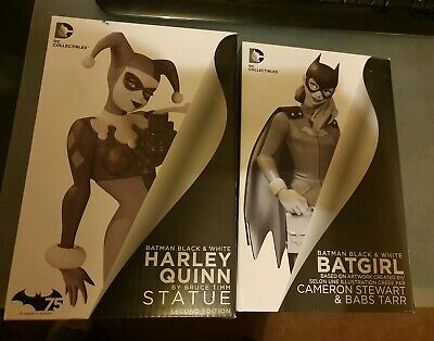 Dc collectibles harley quinn & Batgirl B&W Black & White Statues Boxed