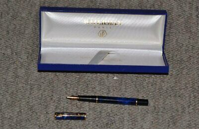 Waterman Fountain Pen Blue/Gold with box