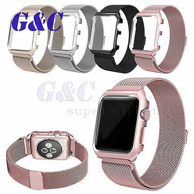 Milanese Stainless Steel iWatch Band Strap W/ shell For Apple Watch 42mm 38mm