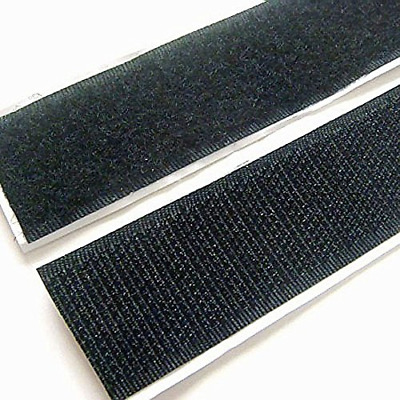 1 Pack Of Home 3/4 inch 5 Yard Sticky Back Tape Self Adhesive Hook Loop Black