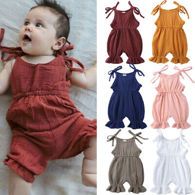 Newborn Infant Baby Boy Girls Bandage Bodysuit Romper Jumpsuit Clothes Outfits