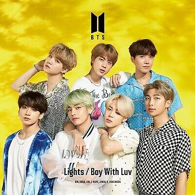 BTS Lights Boy With Luv First Limited Edition C CD+Photo Book SEALED NEW JAPAN