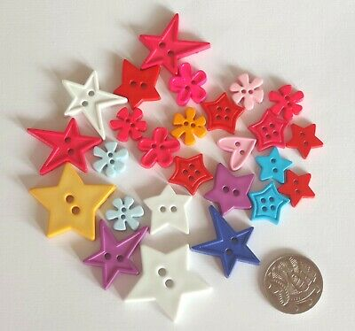 No 65 Novelty Buttons - 25 Assorted Pack - Scrapbooking Sewing Craft