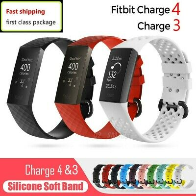 Fitbit Charge 3 Replacement Bands Silicone Watch Wrist Sports Strap Wristband