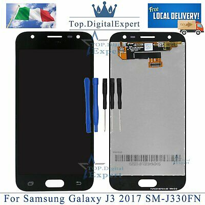 Per Samsung Galaxy J3 2017 SM-J330FN LCD Display Black Touch Screen Schermo Nero