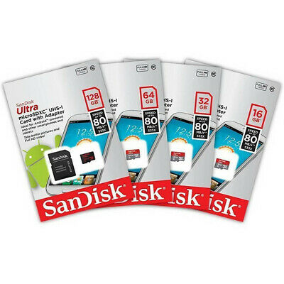 Sandisk 8GB 16GB 32GB 64GB Micro SD HC Class 10 Flash SDHC Memory Card Adapter