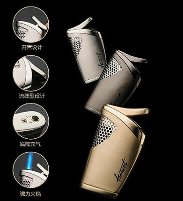 Straight jet butane gas Inflated metal Cigarette Lighter fashion personality US