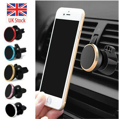 In Car Magnetic Phone Holder Fits Air Vent Universal Mount Various Colours UK
