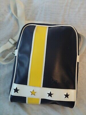Vintage Retro Mambo Adjustable Shoulder Strap Bag - Blue/Yellow/White