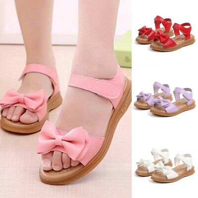 Children Toddler Infant Kids Baby Girls Bowknot Princess Casual Shoes Sandals UK