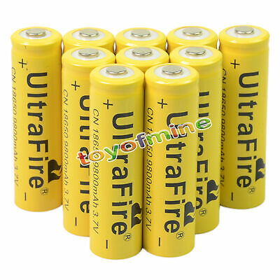 2-20PCS 3.7V 18650 9800mAh Li-ion Batteries Flashlight Rechargeable Battery