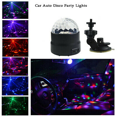 Car Auto Disco Party Lights Strobe Led Dj Ball Sound Activated Bulb Dance Lamp