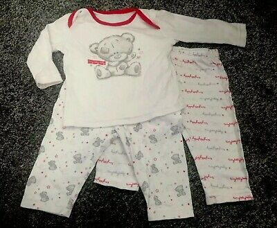 602fd812f9d6a Tiny Tatty Teddy Unisex NeutralWhite Baby Clothes Pjs Outfit 3-6 Months  Bundle.