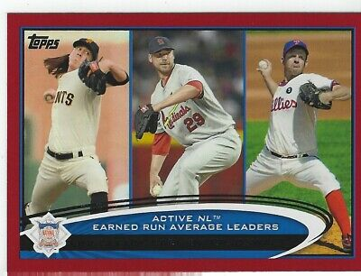 2012 Topps Target Red Border #92 Tim Lincecum/Chris Carpenter/Roy Oswalt LDR